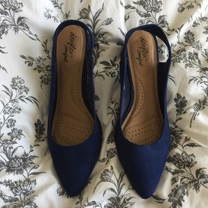 Royal Blue Slingback Low Heels